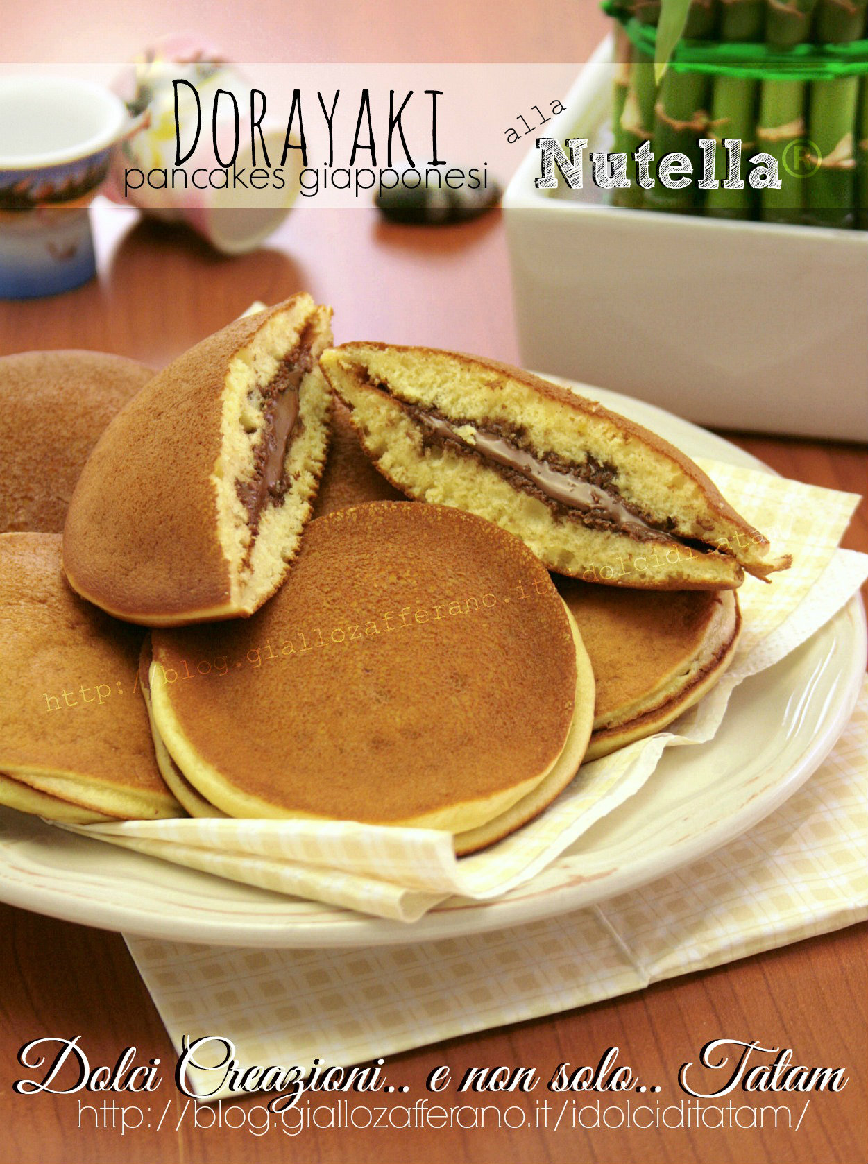 Dorayaki pancakes giapponesi alla Nutella