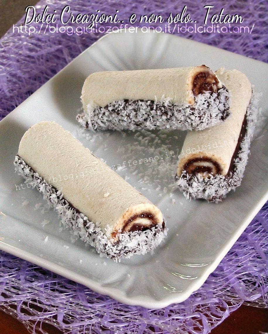 Rotolini di pane al cocco e Nutella