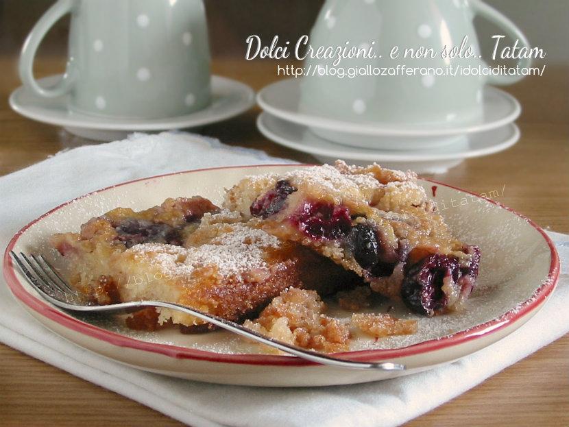 Torta pasticcio di ciliegie fresche 3
