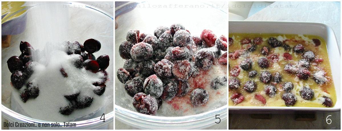 Torta pasticcio di ciliegie fresche 4-6