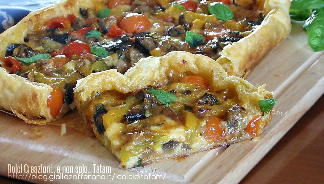 Torta salata mediterranea ricetta vegetariana senza uova for Torte salate con pasta sfoglia