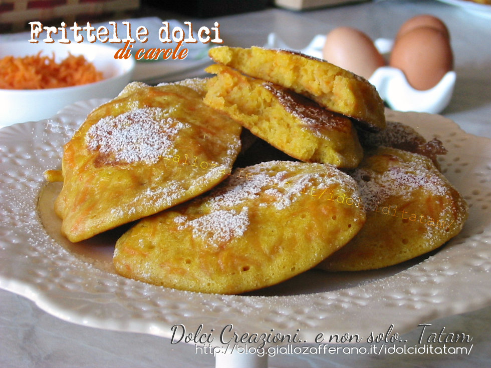 Frittelle dolci di carote