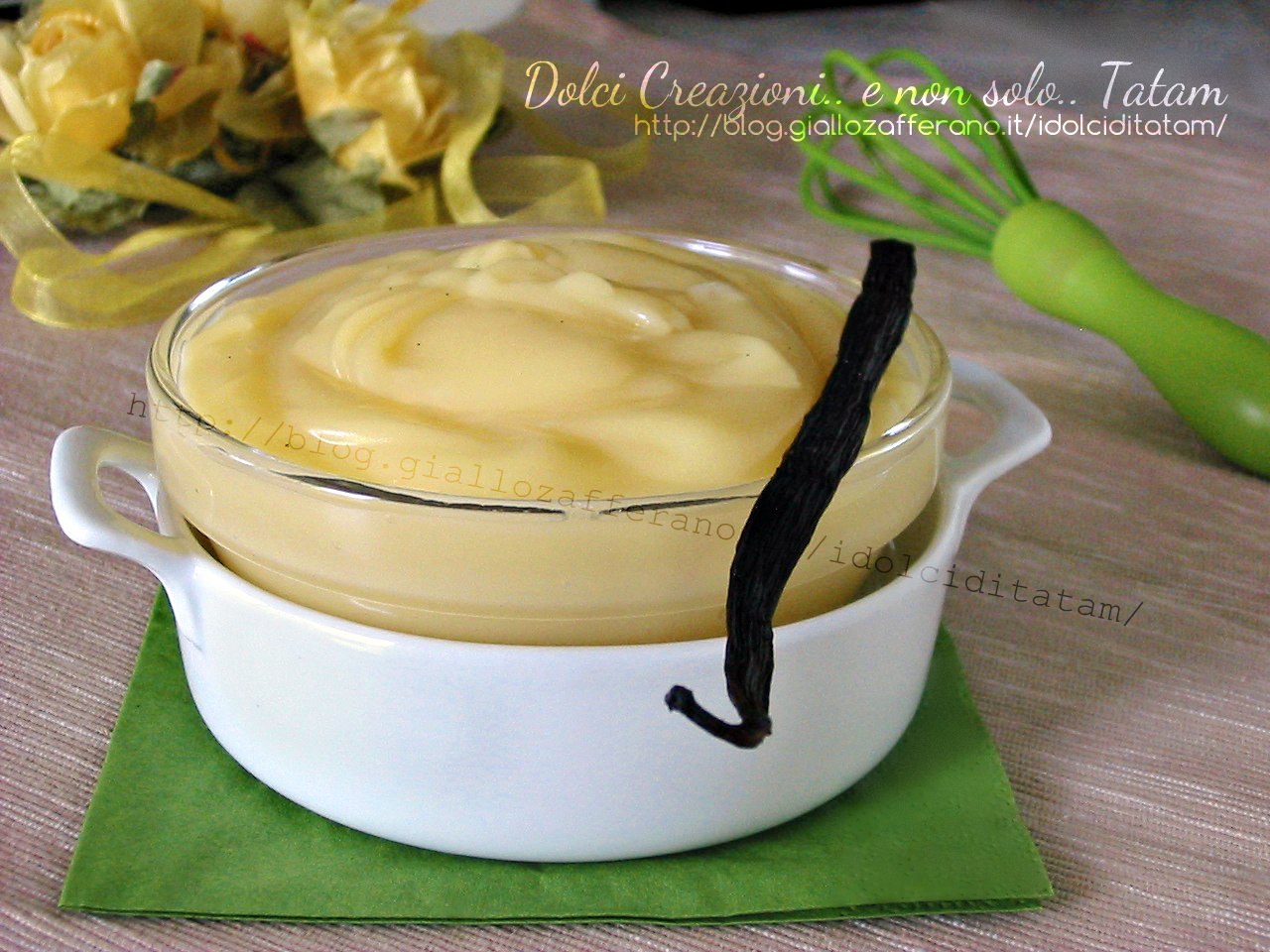 Crema pasticcera senza glutine e senza latte