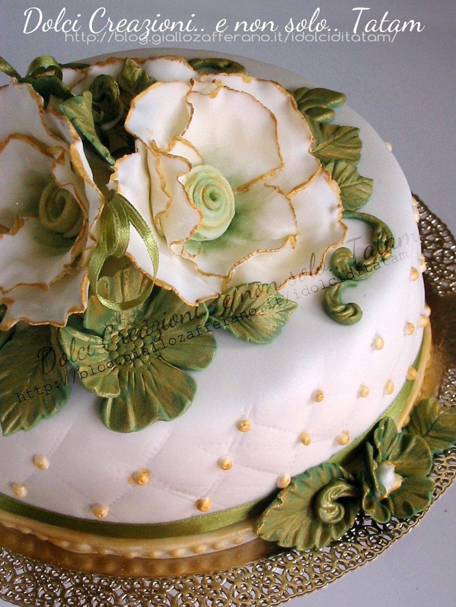 Torta decorata Vintage