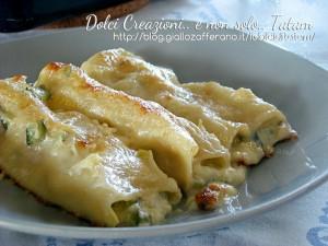 Cannelloni in bianco con zucchine e gorgonzola 1