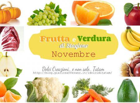 Frutta e verdura di stagione – Novembre