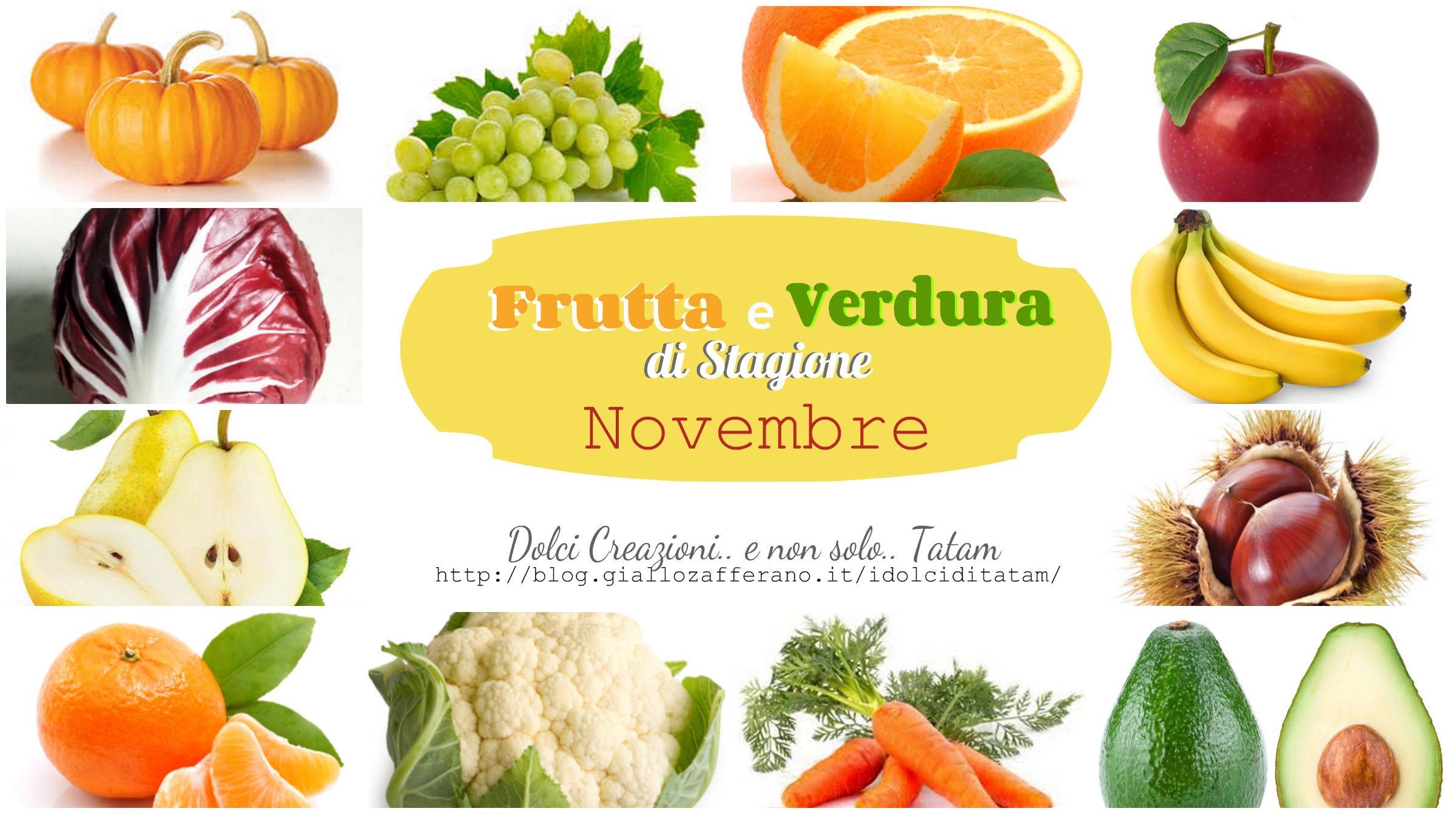 Frutta e verdura di stagione - Novembre