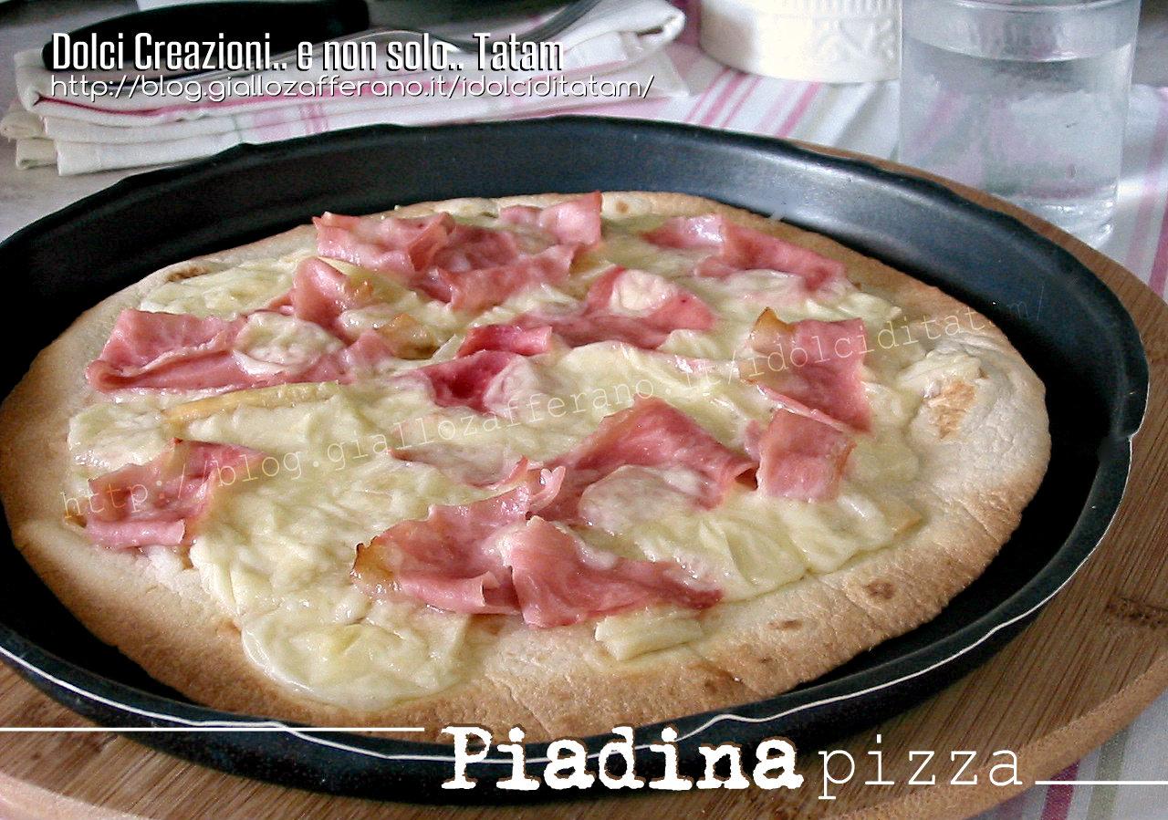 Piadina pizza cotto e brie