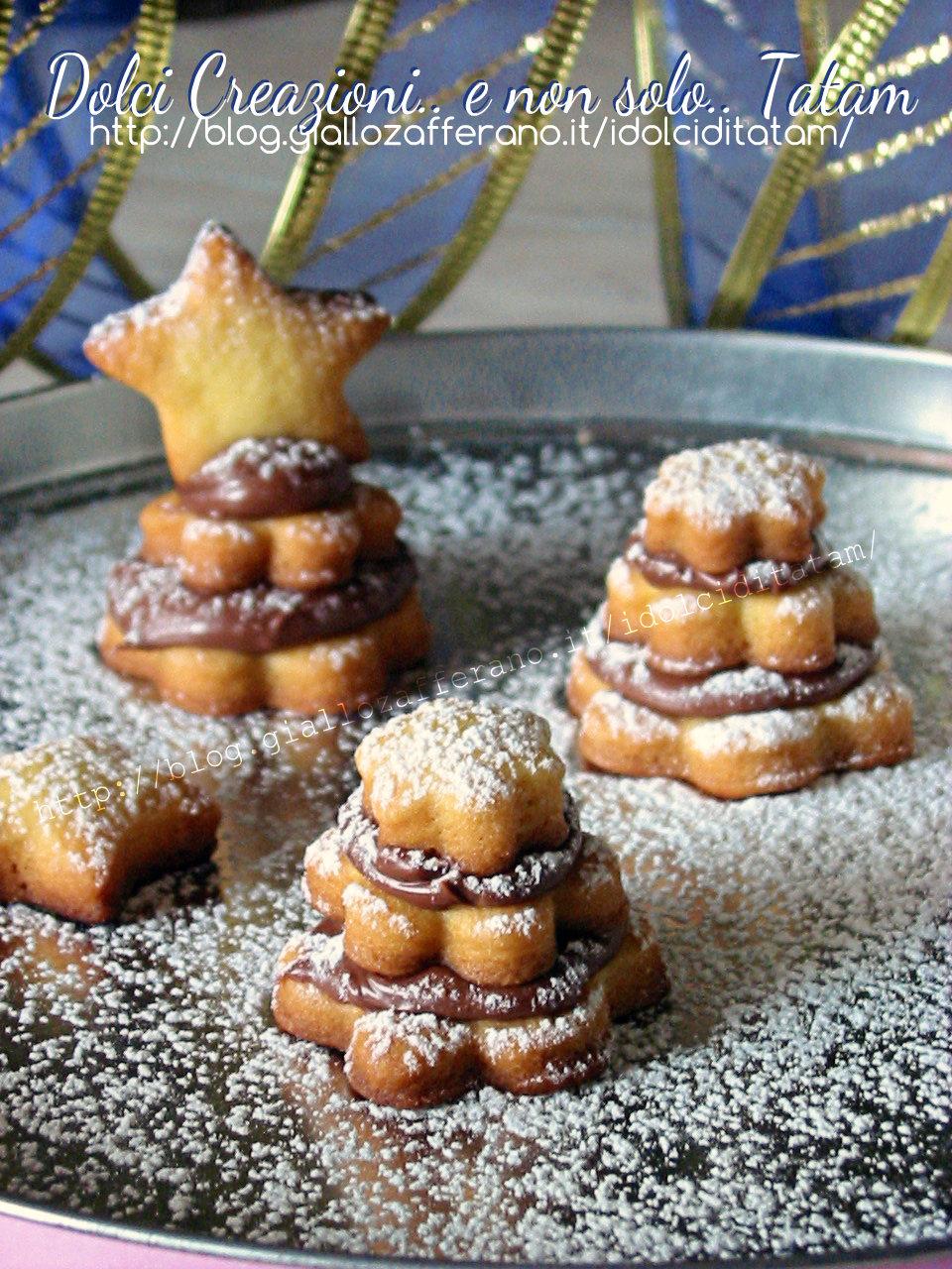 Biscotti Alberelli di frolla e nutella 2