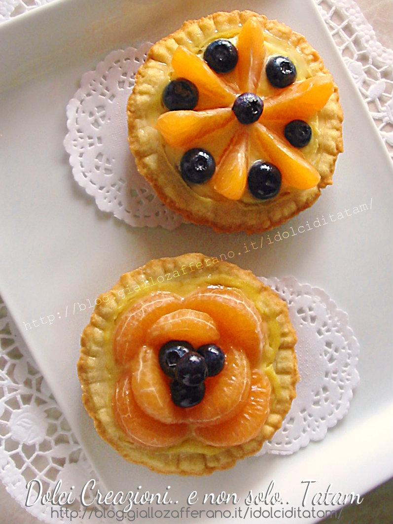 Crostatine alla frutta e crema pasticciera