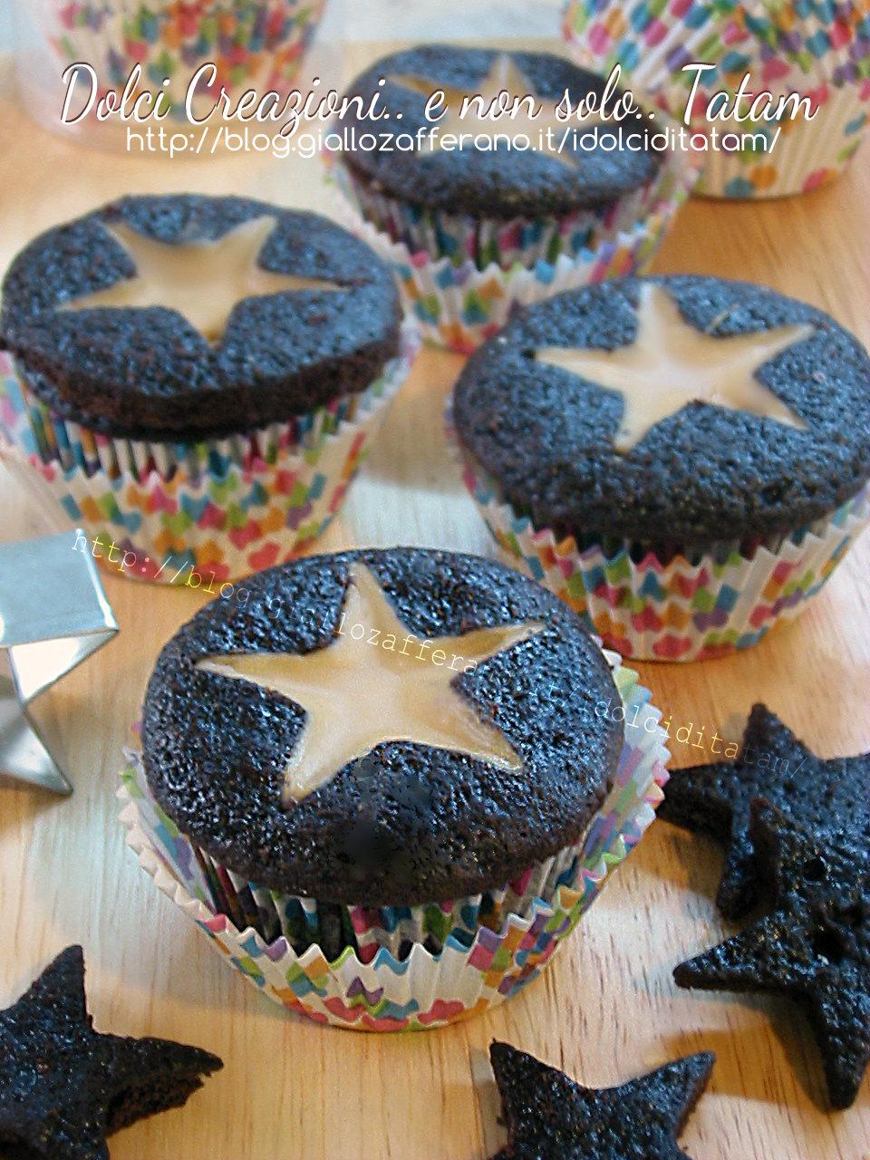 Cupcakes al cacao e brandy con stella al caffe' 1