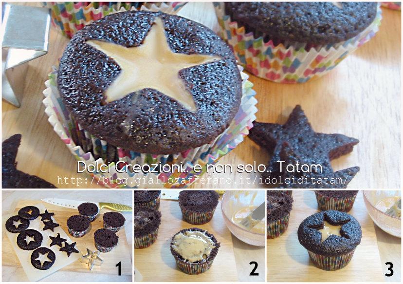 Cupcakes al cacao e brandy con stella al caffe' 2