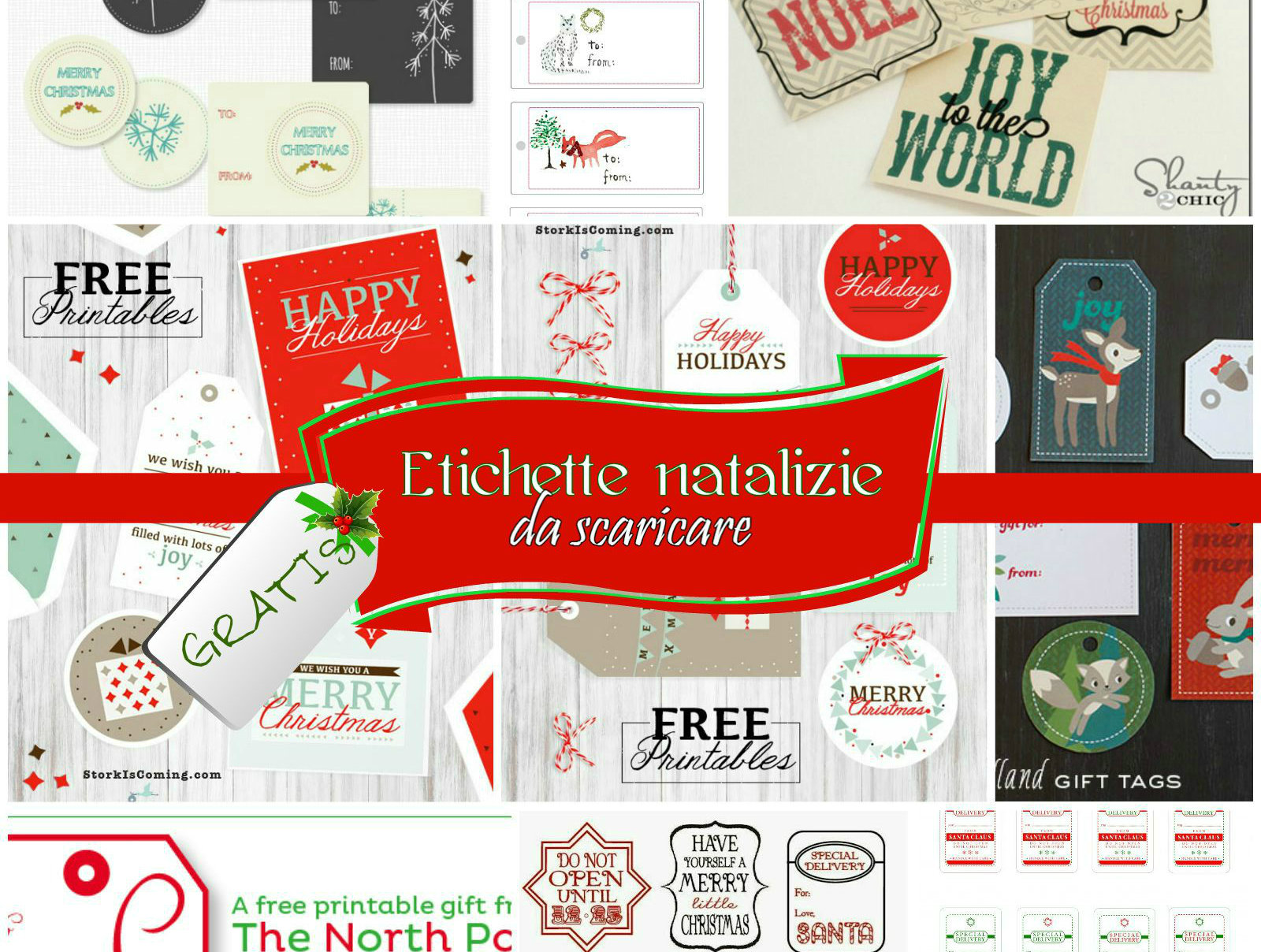 spesso Etichette natalizie da stampare gratis, per pacchi regalo IH56