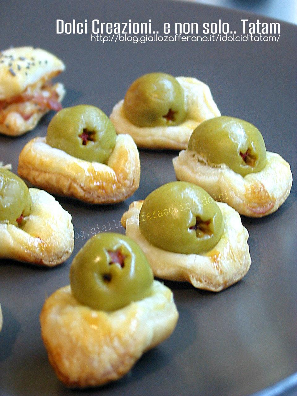 Salatini di pasta sfoglia alle olive