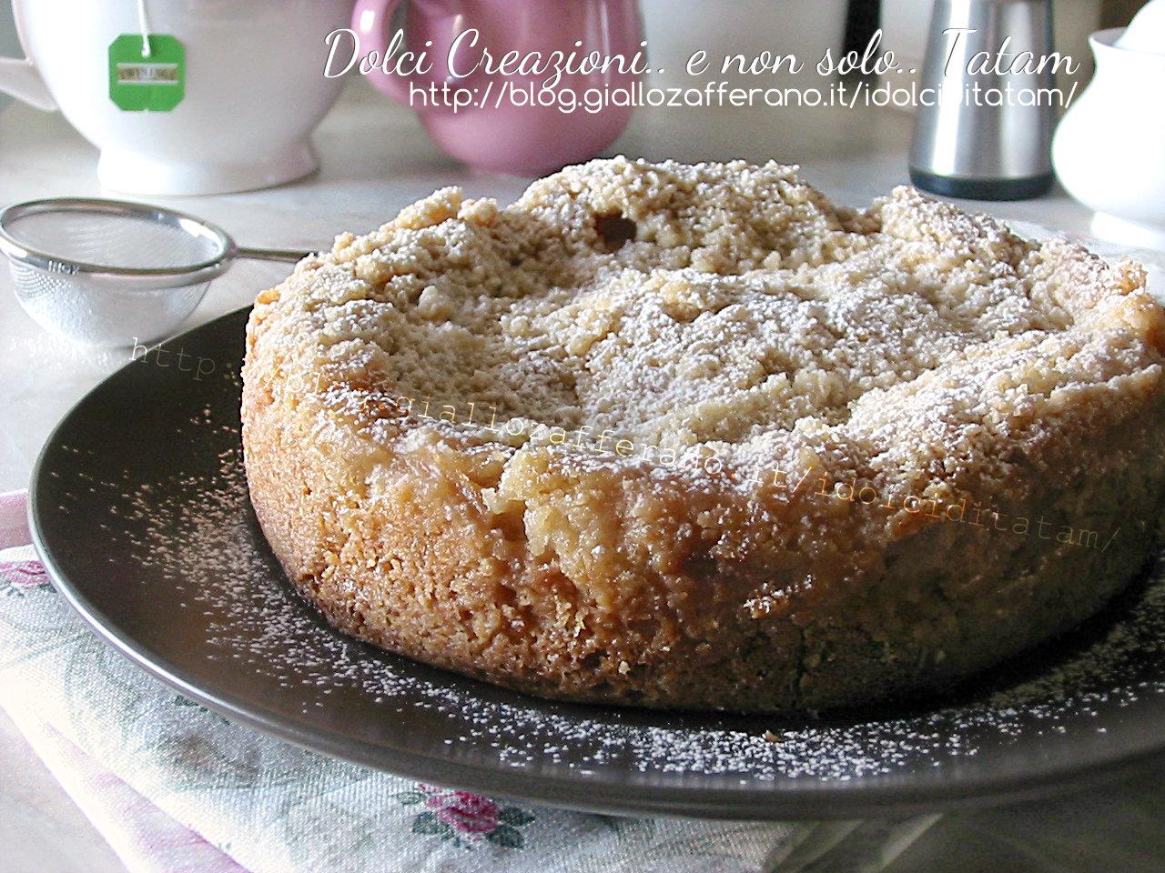 Torta sbriciolata di mele e cannella