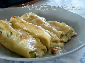 Cannelloni in bianco con zucchine e gorgonzola xfb