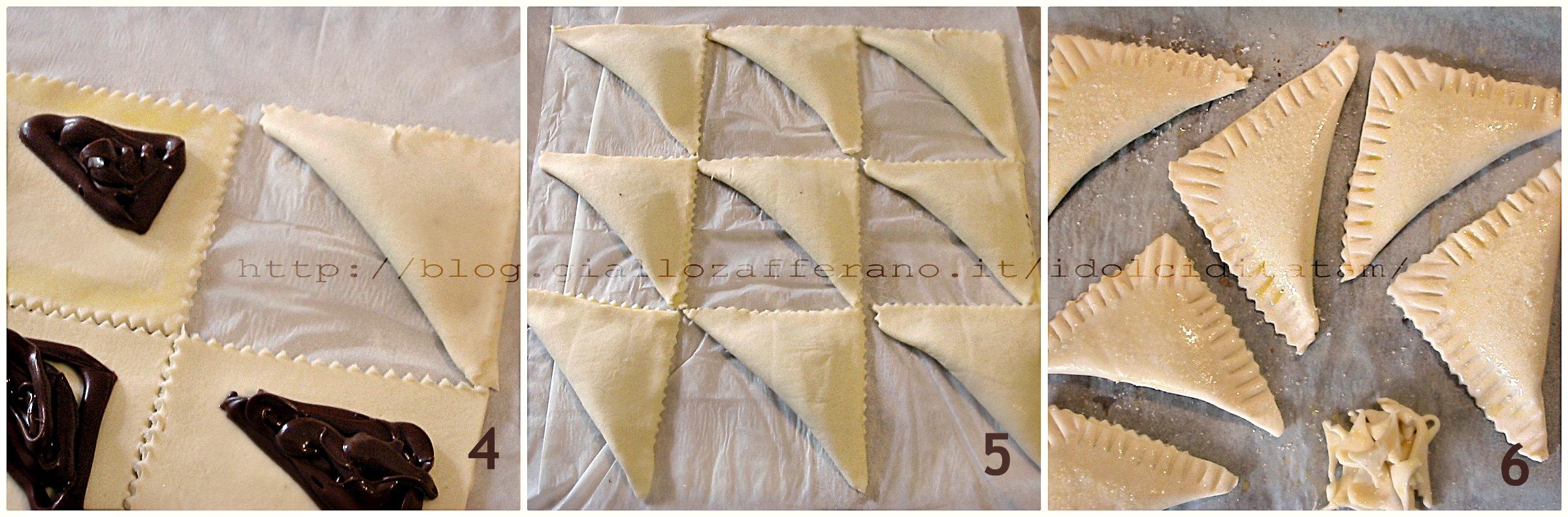 Triangoli sfogliati alla nutella