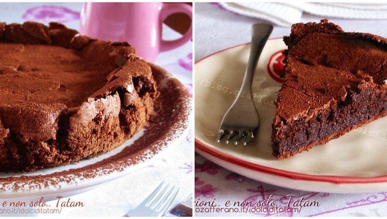 Torta cioccolatino dal cuore fondente, dolci al cioccolato