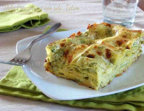 Lasagne con broccoli e scamorza