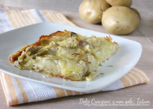 Tortino di patate e carciofi