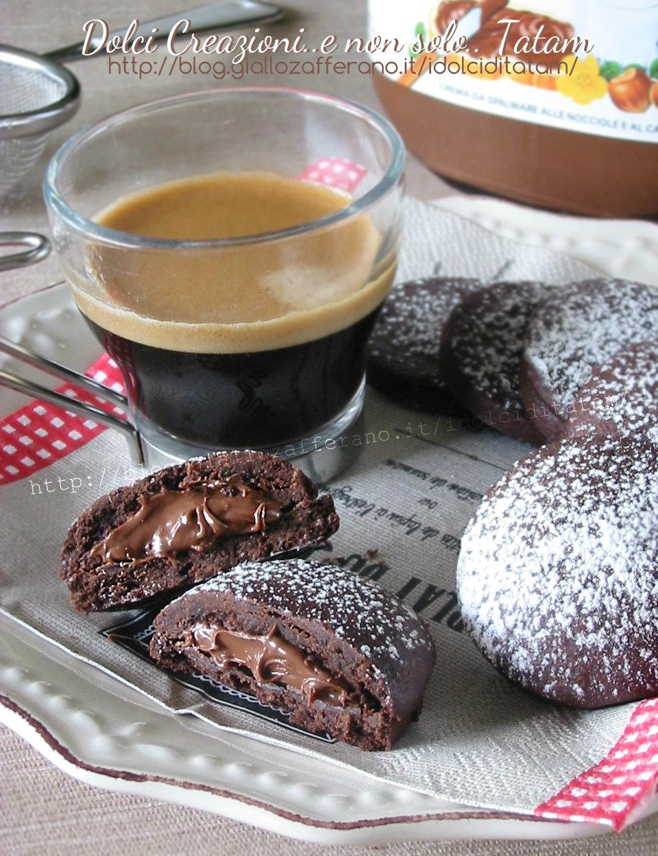 Biscotti al cioccolato e nutella