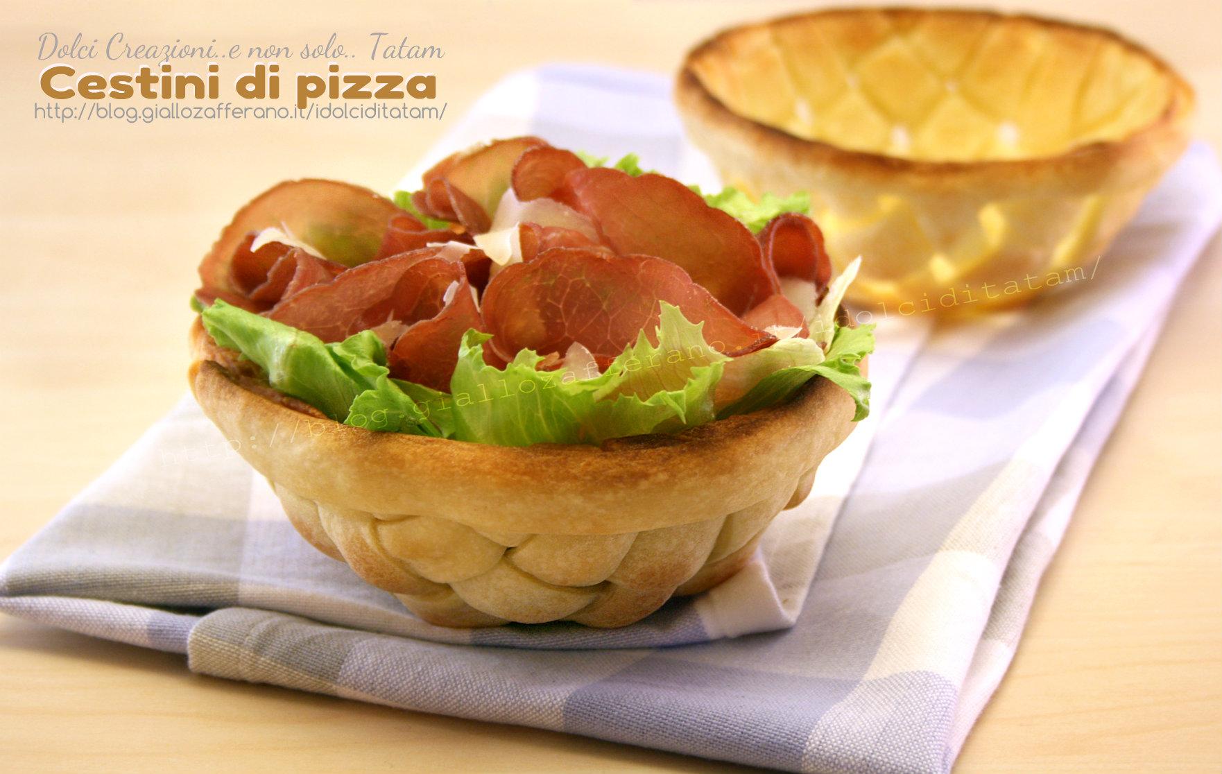 Cestini di pizza