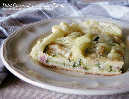 Torta salata di pasta sfoglia con zucchine