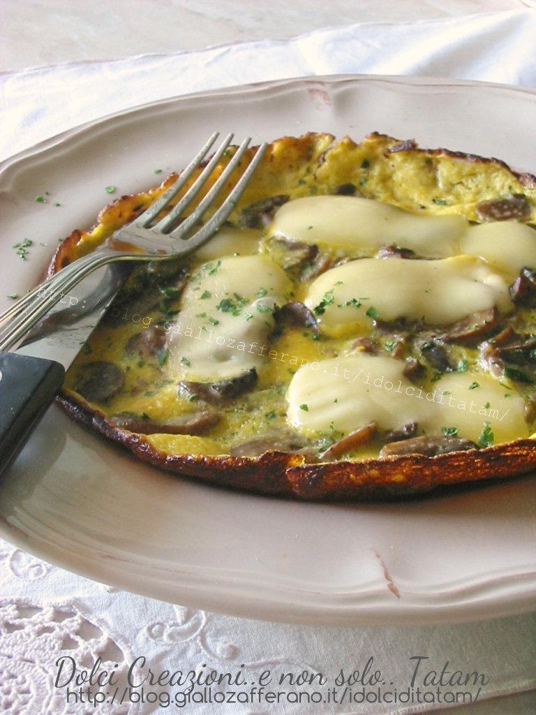 Frittata con funghi e formaggio