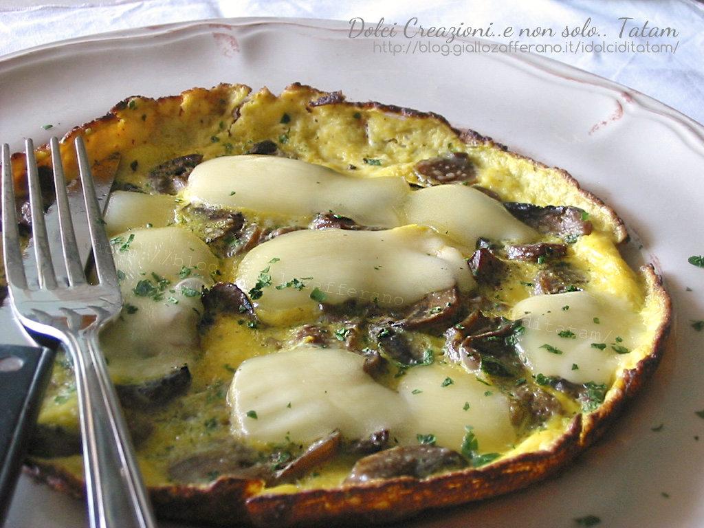 Frittata con funghi e formaggio 4