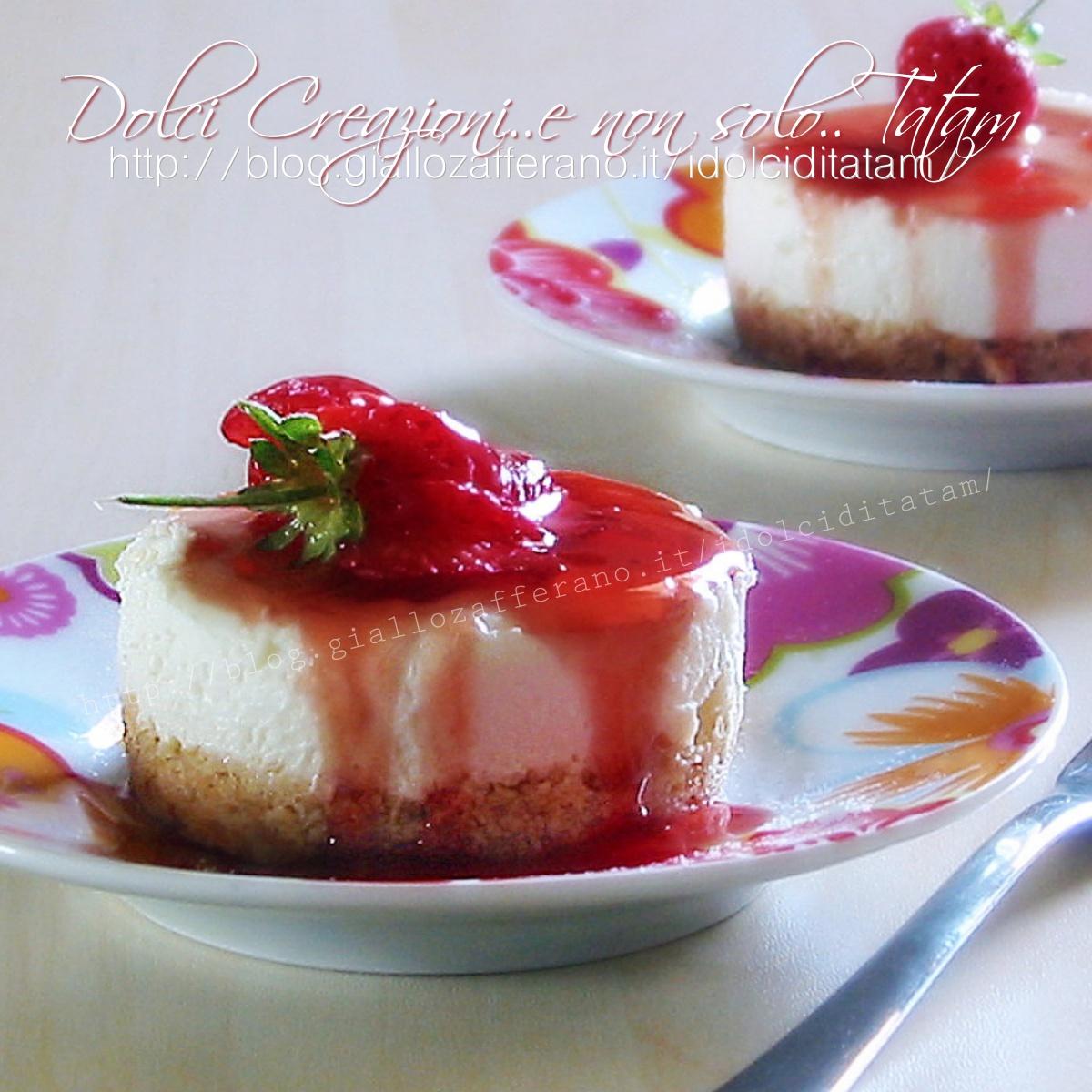 Mini cheesecake alle fragole1200