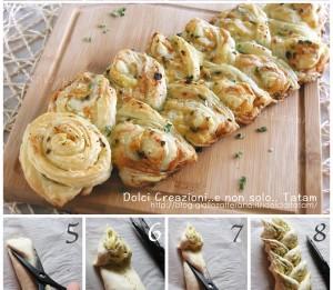 Spiga di sfoglia all'aglio e groviera 1a