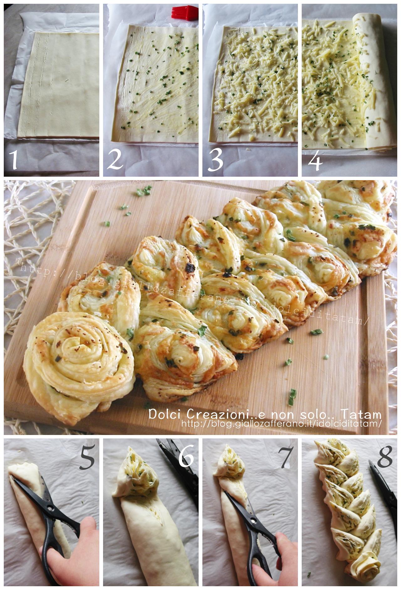 Spiga di sfoglia aglio e groviera