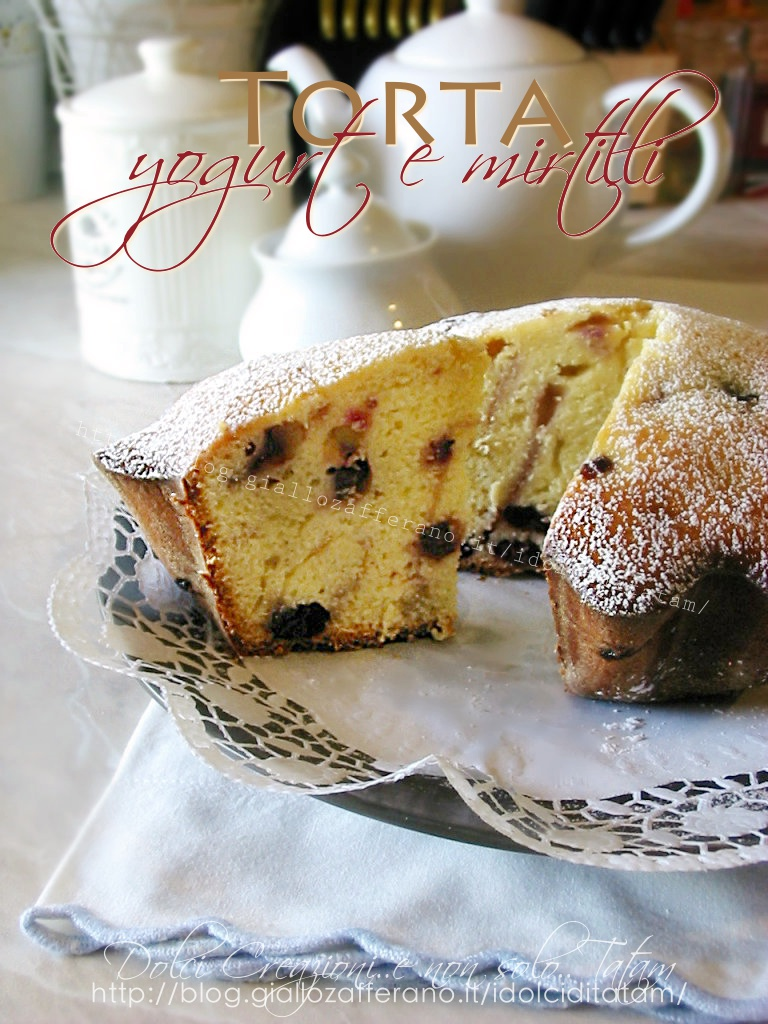 Torta di yogurt e mirtilli