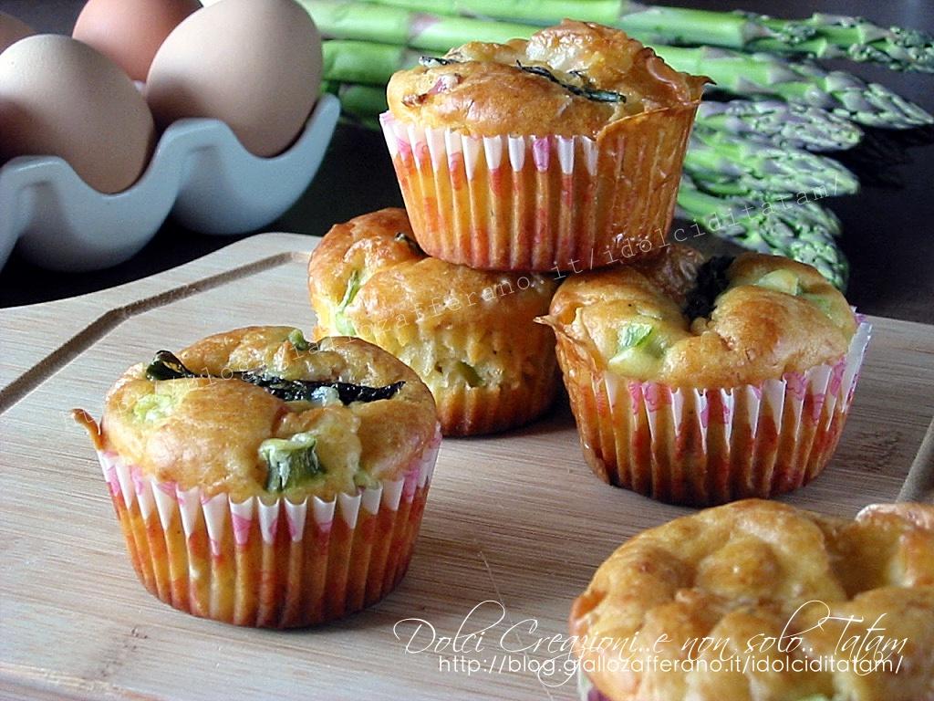 muffin con asparagi