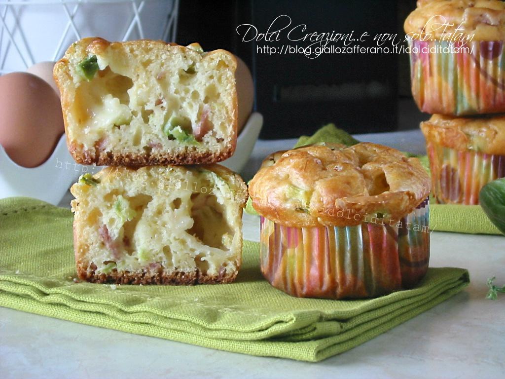 Muffin focaccia con zucchine e scamorza1