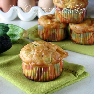 Muffin focaccia con zucchine e scamorza1200