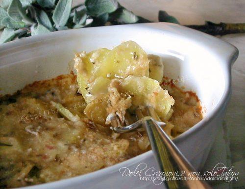 Patate al forno alla besciamella e aromi