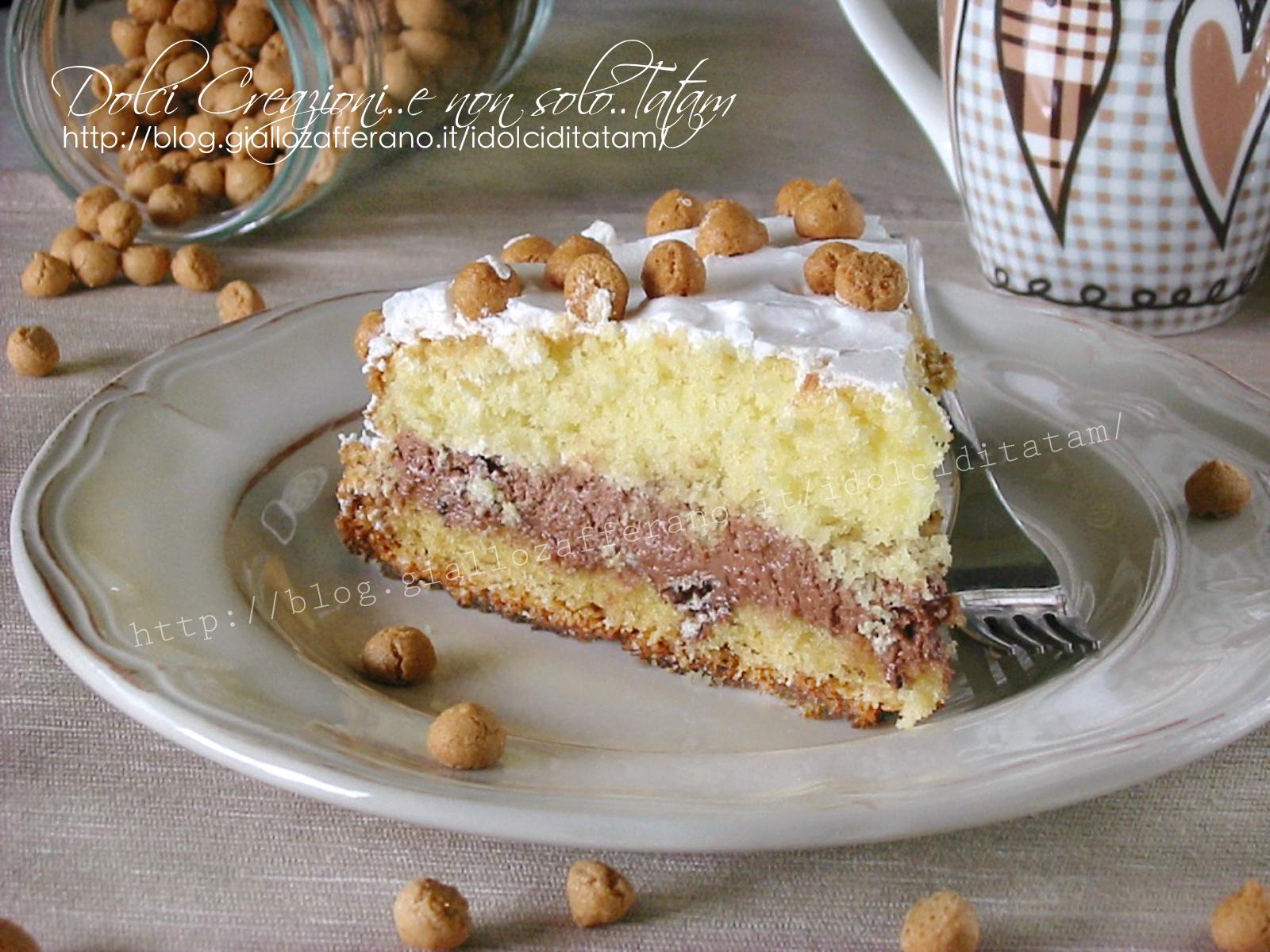 Torta nutella wafer e amaretto morbida e delicata - Bagno per torte senza liquore ...