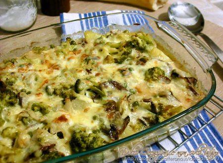 Pasticcio di pollo con verdure e formaggi
