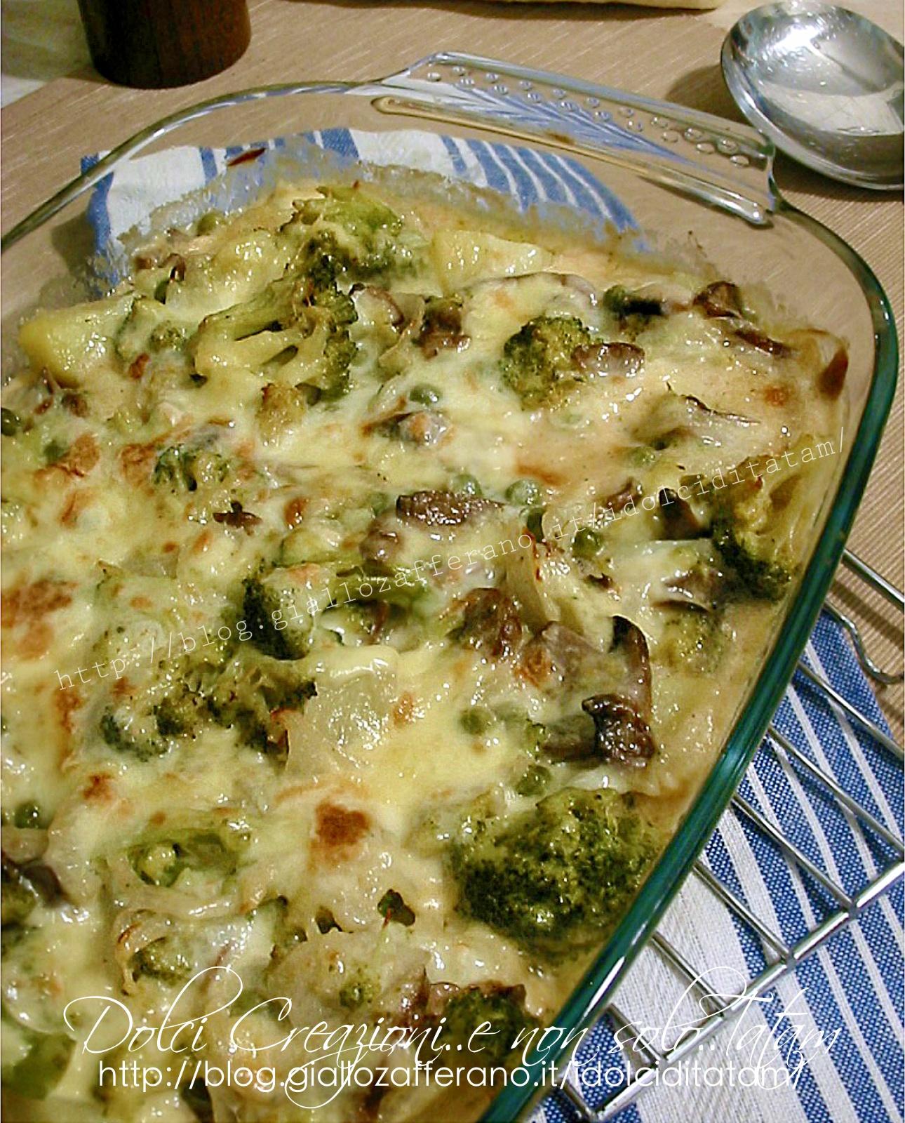 Pasticcio di pollo con verdure e formaggi3