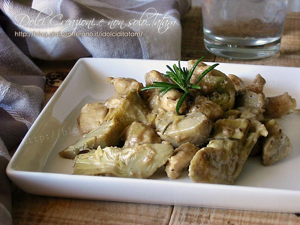 Pollo ai carciofi in padella