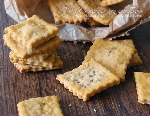 Crackers gusto pizza senza lievito