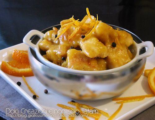 Bocconcini di pollo alla arancia e brandy