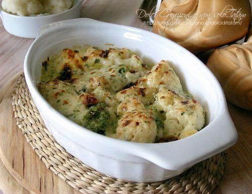 Cavolfiore al forno gratinato, ricetta vegetariana