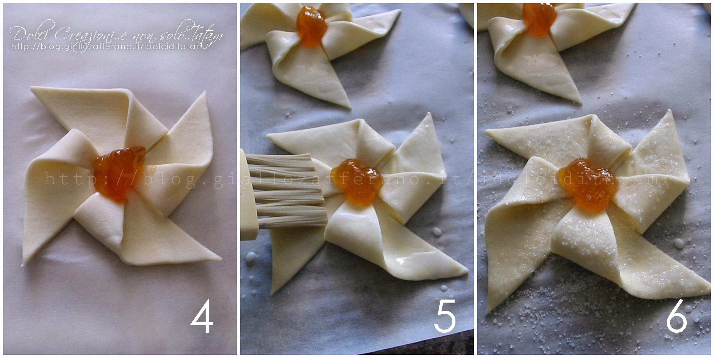 Girandole dolci di pasta sfoglia