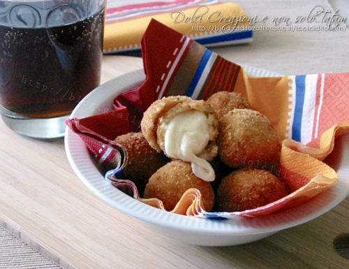 Mozzarelline fritte, croccanti fuori e morbide dentro