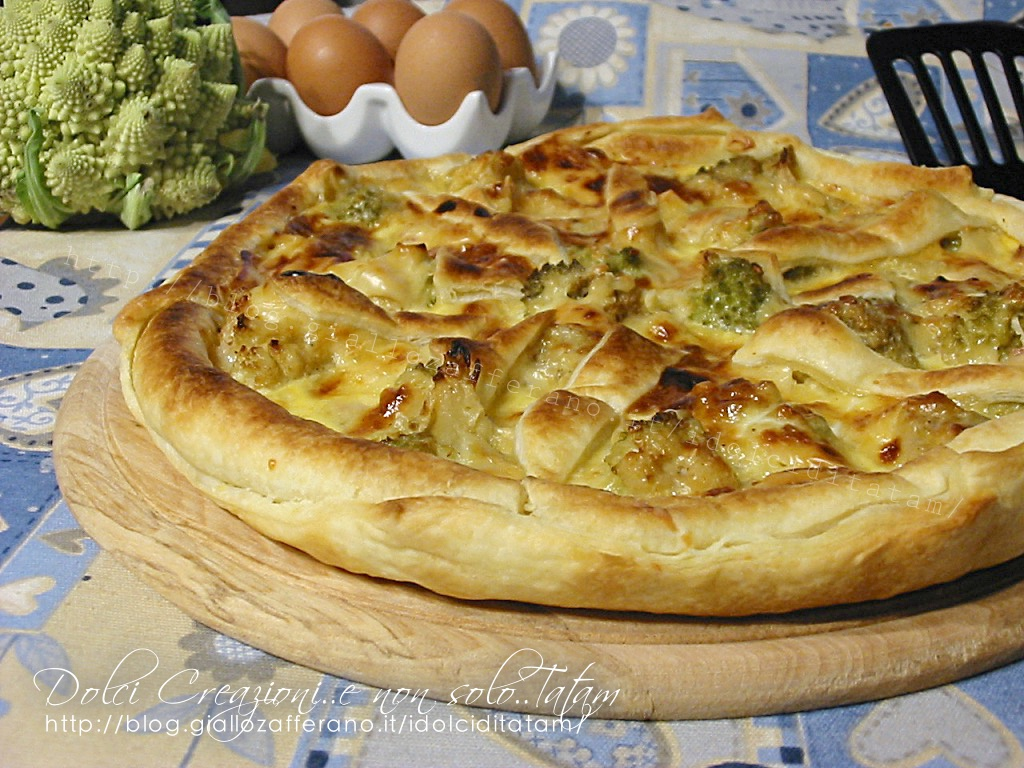 Quiche con broccoli e pancetta