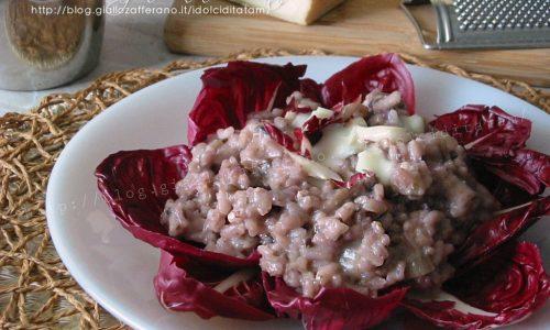 Risotto al radicchio e taleggio, ricetta vegetariana