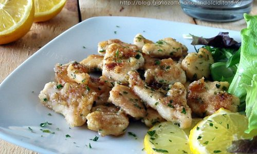 Bocconcini di pollo al limone, in padella
