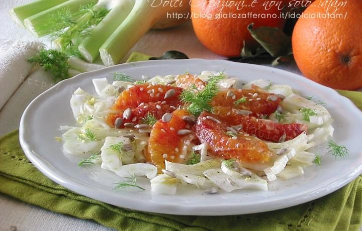 Insalata di finocchi e arance, fresca e leggera e salutare